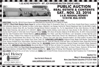 auctions for real estate lancaster pa